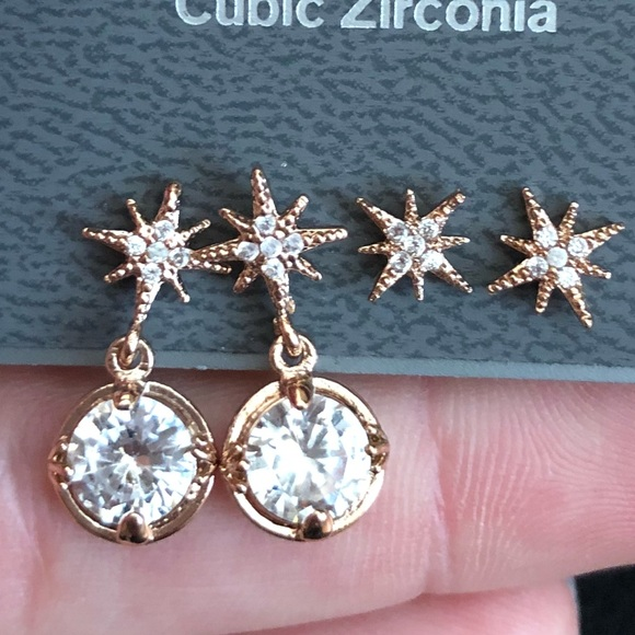 61 off Express Jewelry Express rose gold Tone cubic zirconia